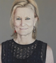 Finalist - Mosman Art Prize and co-winner of Viewer's Choice Award 2013 - 'Christine Manfield', Oil on Canvas, 132cm x 150cm