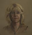 Self Portrait, pastel sketch, life-size