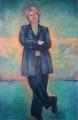 Shelley_L. 'Cheryl Kernot ' Oil on linen 180cmHx122cmw