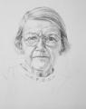Edna Louise Shaw, 51 x 41 cm, graphite, artist Wendy Jane Sheppard