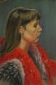 Kathy Smoker. 'Anna-Georgia' (2014), pastel.   55x37cm