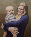 Mother and Son    oil on canvas