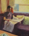Greg Somers, Will reading. Oil on board. 83 cm x 69 cm