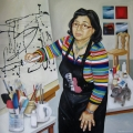 dr-susana-enriquez-in-her-studio-robyn-stanton-werkhoven-2012